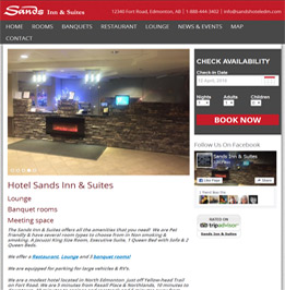 Edmonton Hotel SEO Customer Sands Inn & Suites
